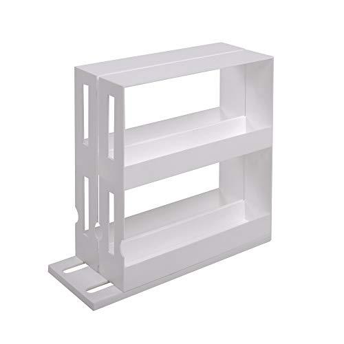UPP Estantería para especias, especiero I cajón retráctil para condimentos y especias I estantería, almacenamiento vertical retráctil I estante de especias doble extensible (28x10,5x27,5cm)