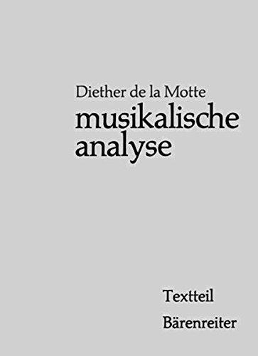 Musikalische Analyse: Textteil / Notenteil ( 2 Bände) by Diether de La Motte (1990-01-01)