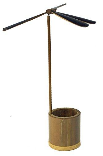 Guru-Shop Pennenhouder met Beweegbare Waterpas, Bruin, Bamboe, Droomvangers en Mobiele Telefoons