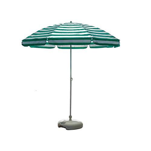 Unbekannt Outdoor-Sonnenschirm Sonnenschirm Angeln Sonnenschirm Sonnenschirm Stall Stand Garten Regenschirm tragbare Werbung Regenschirm Balkon Regenschirm (Farbe : Grün, größe : 2.2m)