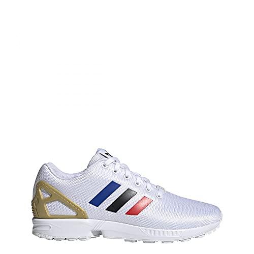 adidas ZX Flux, Sneaker. Uomo, Bianco (Cloud White Core Black Team Royal Blue), 42 EU