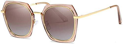 Mannen rijden zonnebril Unisex gepolariseerde modieuze stijlvolle zonnebril dunne mental frame UV400 bescherming vintage zonnebril voor mannen vrouwen meerdere kleuren (kleur: koffie)