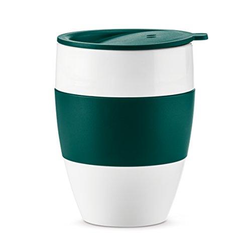Preisvergleich Produktbild Koziol Aroma To Go 2.0 Thermobecher mit Deckel,  Thermotasse,  Isolierbecher,  Kaffeebecher,  Kunststoff,  Emerald Green,  400 ml,  3589378