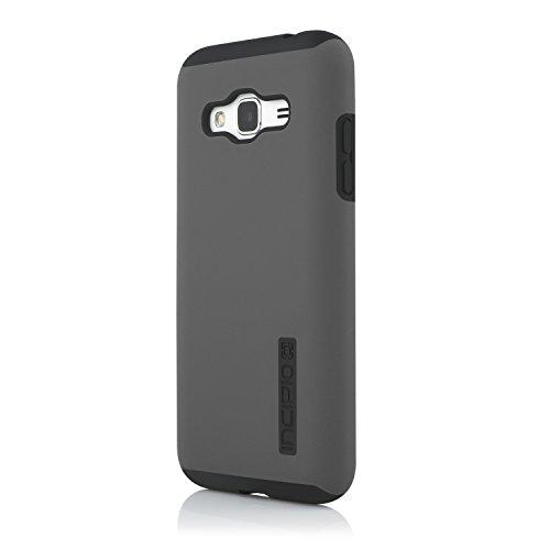 Incipio DualPro Case per Samsung Galaxy J3 (2016) in grigio/nero – Custodia protettiva certificata Samsung [estremamente robusta | assorbe gli urti | Rivestimento Soft Touch | ibrido – SA-760-GRBLK