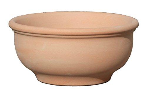 Hentschke Keramik Pflanztopf/Pflanzkübel frostsicher Ø 45 x 22 cm, terrakotta, 011.045.53 Blumenkübel für Draußen + Innen - Made in Germany