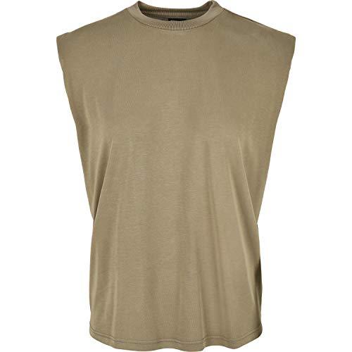 Urban Classics Ladies Modal Padded Shoulder Tank T-Shirt, Cachi, XXL Donna