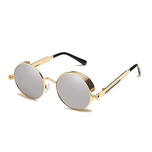 Moda Gafas De Sol Steampunk Clásicas Clásicas para Hombre Y Mujer, Gafas Redondas Góticas Retro para Hombre, Gafas De Conducción De Metal A La Moda, Gafas Uv400 6