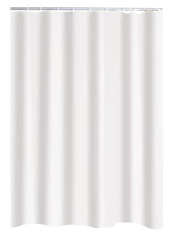 RIDDER Duschvorhang Textil Uni weiß 240x180 cm