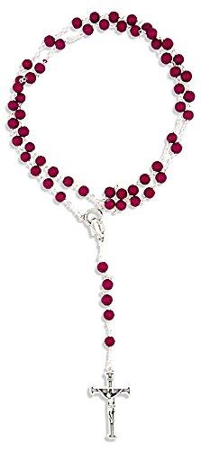 Glass Bead Rosario católica por Las importaciones del Vaticano