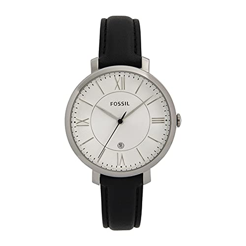 FOSSIL Jacqueline - Uhr mit schwarzem Lederband - ES3972IE