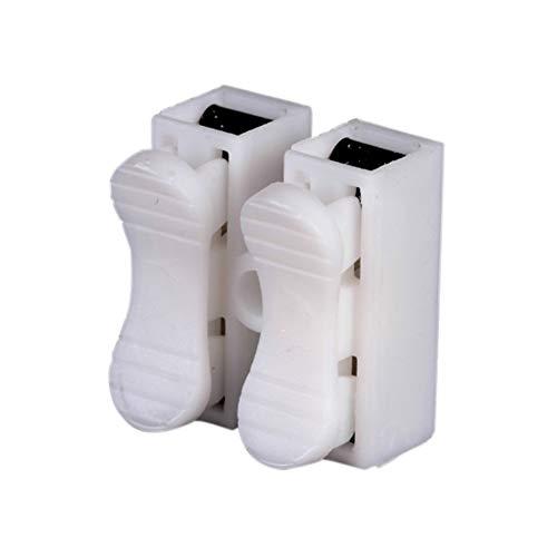 youyu6-2o521 Kit de Conectores de Encogimiento de Calor Terminal de Cable de Empalme rápido de Bloqueo Conectores de Cable eléctrico for 2pins 0,5-1,5 Alambres Terminales de Tierra (Color : 20pcs)