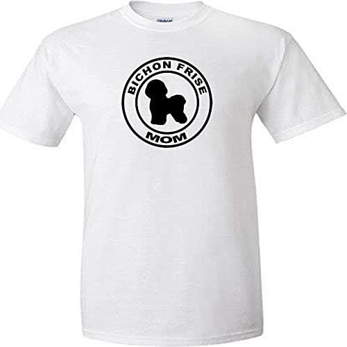 Bichon Frise - Camiseta unisex con diseño de círculo, diseño de perro,...