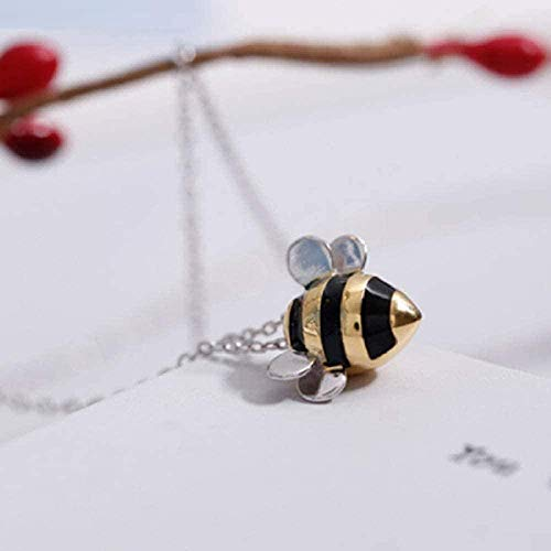 WLHLFL Necklace Necklace Jewelry Cute Little Bee Exquisite Female Personality Pendant Necklace
