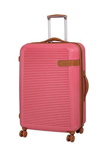 IT En Vogue 71cm Expandable Hardshell Four Wheel Spinner Suitcase Coral Pink