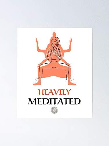 Yoga – Póster muy meditado para citas inspiradoras, impresiones de motivación, regalo para mujeres, regalo para hombres, arte de la pared de la oficina, decoración de la habitación del dormitorio.