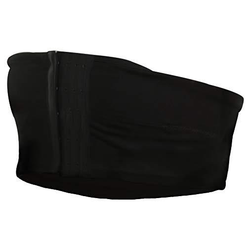 Abergele Women's Hands Free Band Strapless Breast Pump Bra, Black, XX-Large