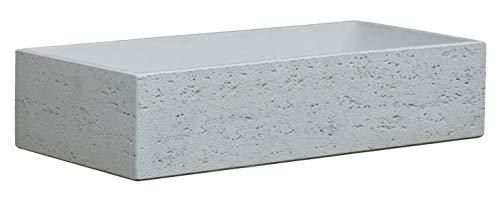 Bonfante Fregadero de pared de piedra reconstruida Iseo blanco Travertino