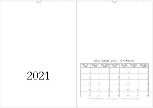 Bastelkalender & Fotokalender 2021 - DIN A3 / A2 - CO2 neutral in Deutschland gedruckt - Hochformat/hoch - weiß - Wandkalender - Kreativkalender DIY Do-it-yourself - XL/XXL (A3)