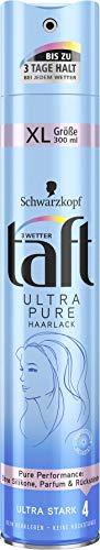 Drei Wetter Taft Haarlack Ultra Pure ultra starker Halt 4, 6er Pack(6 x 300 ml)