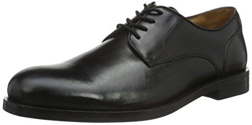 Clarks Coling Limit, Zapatos de Cordones Oxford para Hombre, Negro (Black Leather), 43 EU