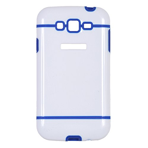iCandy™ Dual Tone Hard PC Back Cover for Samsung Galaxy Grand S9082 / Samsung Galaxy Grand Neo S9060 / Samsung Galaxy Grand Neo Plus S9060i - Blue