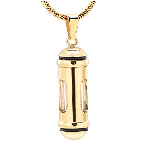 Wxcvz Ceniza Collar Colgante Collar De Cremación Circular Colgante De Urna De Acero Inoxidable Collar Conmemorativo Titular De Cenizas Joyería De Cremación De Recuerdo