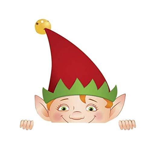 spier Decoración de césped de Navidad, elfo para vallas, para decoración de interiores y exteriores.