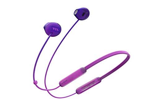 TCL SOCL200 In-Ear Bluetooth Kopfhörer (17 h Wiedergabe, Schnellladefunktion, Fernbedienung, Mikrofon, Echounterdrückung), Sunrise Purple