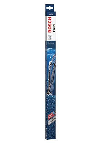 Bosch Twin Escobilla limpiaparabrisas 550U, Longitud: 550 mm – 1 escobilla limpiaparabrisas para el parabrisas frontal