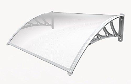 XONE Pensilina Trasparente 160x120 cm in policarbonato alveolare - Elegante e Resistente | Spessore Lamina policarbonato 5,5 mm