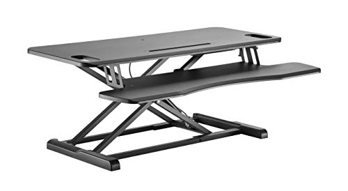 """VERGO Standing Desk Converter Kit, Adjustable Height, 37"""" Wide Monitor and Computer Riser with Wide Keyboard Tray"""