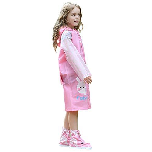 UINGKID Transparent Regenponcho Wiederverwendbar Regenmantel Wasserdicht Atmungsaktiv Regencape tragbarer Regenmantel Regenbekleidung Regenjacke Kinderschutz-Regenmantel