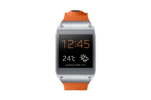 Samsung Galaxy Gear V700 Smartwatch (4,14 cm (1,63 Zoll) SAMOLED-Display, 800 MHz, 512MB RAM, Android 4.3) orange