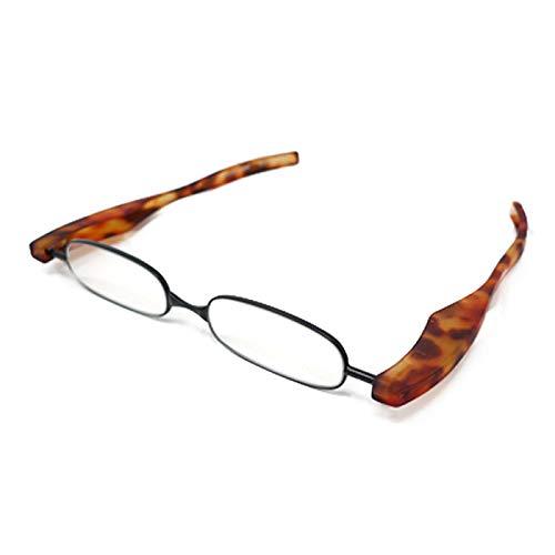 【ポッドリーダー スマート-ブルーライトカット対応レンズ】ブルーライトカット 超軽量 コンパクトな折りたたみ式 老眼鏡 4色 +1.0~+3.0 胸ポケットに入るサイズ Podreader-Blue light cut (+2.5, デミブラウン)