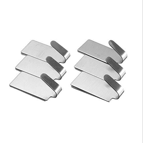 Ganchos autoadhesivos de acero inoxidable, resistentes 6 unidades, para cocina, baño, puerta, no necesita taladro