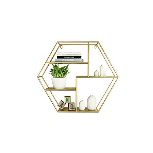 WXQIANG Estante de pared hexagonal redondo para restaurante, almacenamiento de vino, estantería simple para colgar gabinete de pared duradero y protector