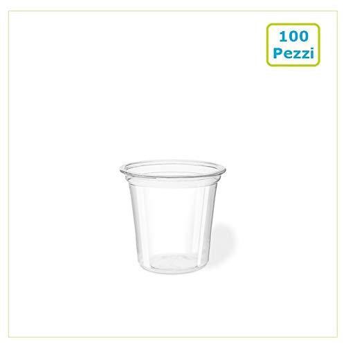 Palucart 100 Bicchieri da Shot Bicchierini per cicchetto USA e Getta Bicchieri plastica Resistenti 30ml liquori chupito degustazione