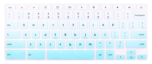Silicone Keyboard Skin Compatible 13.3 inch Dell Chromebook 13 3380 & 11.6 inch Dell Chromebook 11 3100 C3181 P22T 3120 3180 3181 3189 5190 (Not FIT Dell Inspiron 11 3180 3185 3162 3168.) Ombre Mint