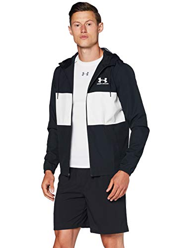 Jaqueta masculina Under Armour Sportstyle Wind, Black (001)/Onyx White, Large