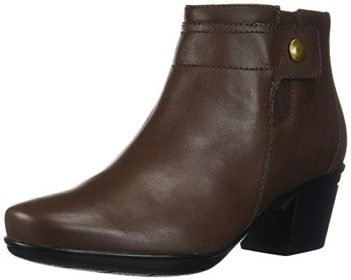 Womens Brown Leather Sock Ankle Boot