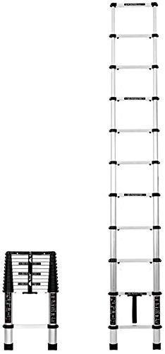 TelesTall Scalini di Estensione in Alluminio per impieghi gravosi per la casa Loft Top Tappi terminali Antiscivolo Carico di Fuga Pieghevole Portatile 150Kg