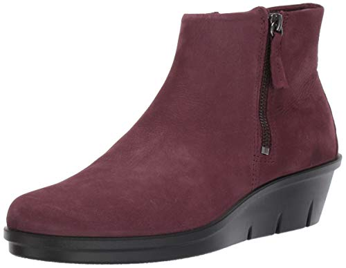 ECCO Women's Skyler Side Zip Ankle Boot, Bordeaux Nubuck, 41 M EU (10-10.5 US)