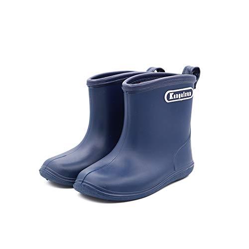 TRIWORIAE-Kinder Regenstiefel wasserdichte Schuhe Gummistiefel Jungen Mädchen Marine 23