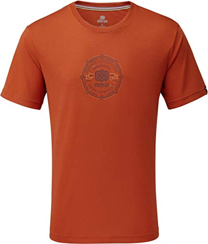 Sherpa Adventure Gear Men\'s Kimti Short Sleeve Tee, Teej Orange, X-Large
