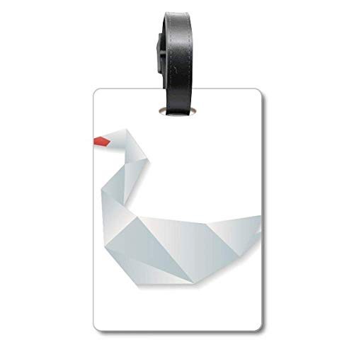 Etiqueta geométrica Abstracta de Ganso con patrón de Origami para Maleta de Crucero, Etiqueta de identificación de turista