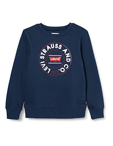 Levi's Kids Lvb Crewneck Sweatshirt Sudadera Niños Dress Blues 12 años