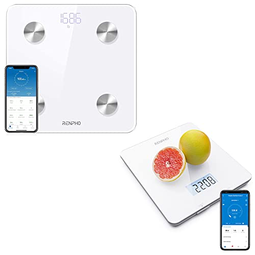 RENPHO Smart Body Fat Scale, RENPHO Digital Food Scale, Kitchen Scale for Baking, Cooking and Coffee Scale with Nutritional Calculator