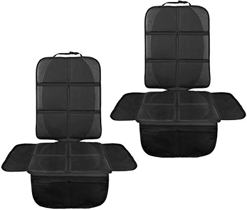 LIONSTRONG Kindersitzunterlage, ISOFIX geeignete Unterlage für Kindersitze, Sitzschoner zum Schutz Ihrer Autositze (L (2er Pack))