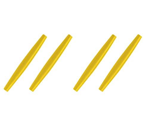 2 pares de almohadillas de goma de repuesto para gafas de sol Oakley Crosshair S, (Calcetines amarillos), Talla única