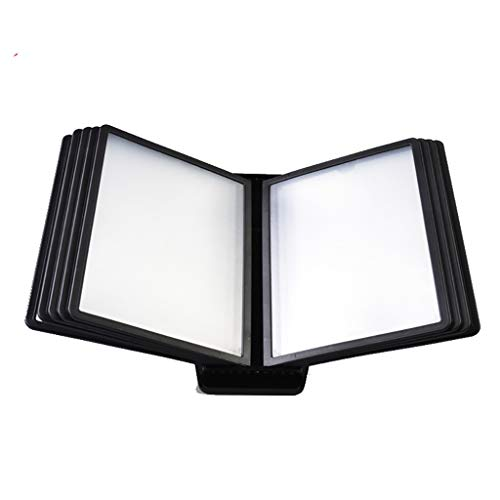 Seitenordner - 10 Double Black Sided Panels, for Display-A5 Dokumente, Produktpreisliste Preis Menü Multifunktionseinsatz, Anti-Falten-Seite Ordner